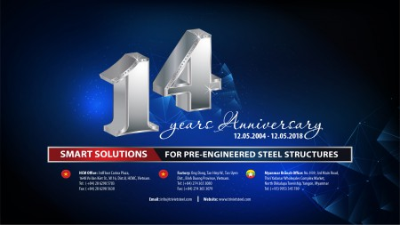 14TH ANNIVERSARY OF ESTABLISHING TRIVIET STEEL BUILDINGS CO.,LTD