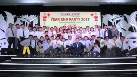 WELCOME TO YEAR–END PARTY OF TRIVIET STEEL BUILDINGS 2017